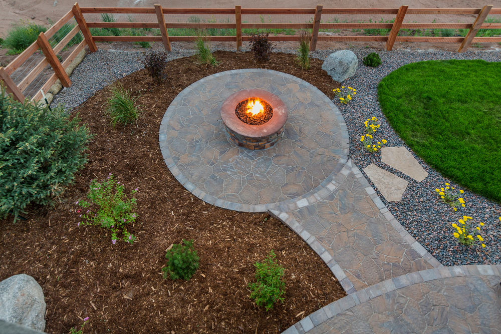 backyard landscaping project